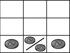 スーパーリノXX 下段コイン(3枚)
