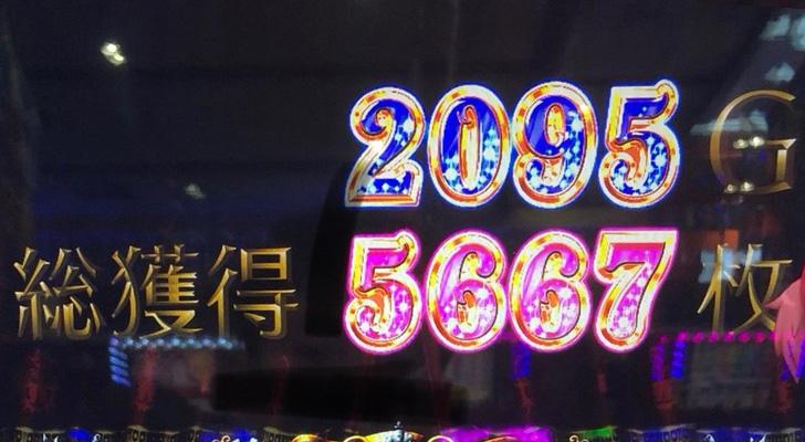 総獲得5667枚