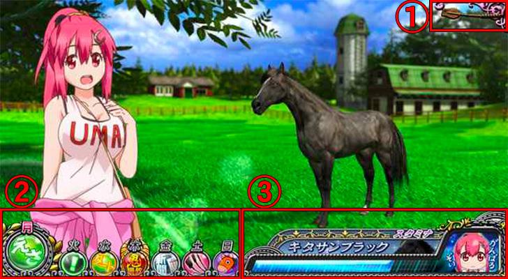 G1優駿倶楽部2 通常時画面